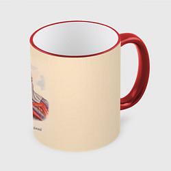 Кружка 3D Александр Невский 1220-1263 цвета 3D-красный кант — фото 1