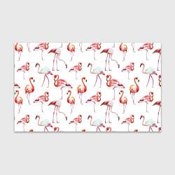 Бумага для упаковки Действия фламинго цвета 3D-принт — фото 1