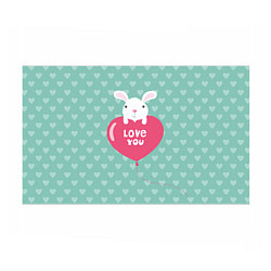 Бумага для упаковки Rabbit: Love you цвета 3D — фото 1