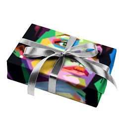 Бумага для упаковки Angelina Jolie: Art цвета 3D — фото 2