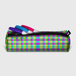Пенал для ручек Тестовый яркий цвета 3D-принт — фото 2