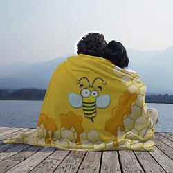 Плед флисовый Веселая пчелка цвета 3D — фото 2