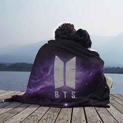 Плед флисовый BTS: Violet Space цвета 3D-принт — фото 2