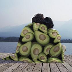 Плед флисовый Avocado background цвета 3D-принт — фото 2