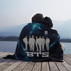 Плед флисовый BTS цвета 3D-принт — фото 2