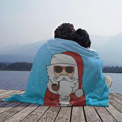 Плед флисовый Дед мороз цвета 3D-принт — фото 2