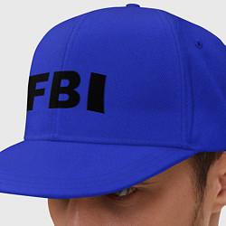 Кепка-снепбек FBI цвета синий — фото 1