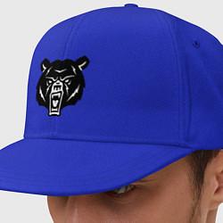 Кепка-снепбек Ярость медведя цвета синий — фото 1