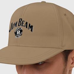 Кепка-снепбек Jim Beam logo цвета миндальный — фото 1