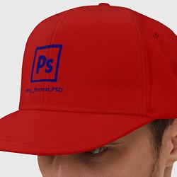 Кепка-снепбек Photoshop цвета красный — фото 1