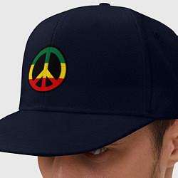 Кепка-снепбек Peace Symbol цвета тёмно-синий — фото 1