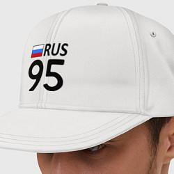 Кепка-снепбек RUS 95 цвета белый — фото 1