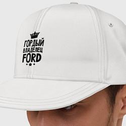 Кепка-снепбек Гордый владелец Ford цвета белый — фото 1