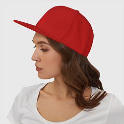 Кепка-снепбек СССР герб цвета красный — фото 2
