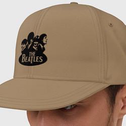Кепка-снепбек The Beatles Band цвета миндальный — фото 1
