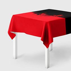 Скатерть для стола АлисА: Черный & Красный цвета 3D — фото 2