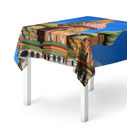 Скатерть для стола Храм Василия Блаженного цвета 3D — фото 2