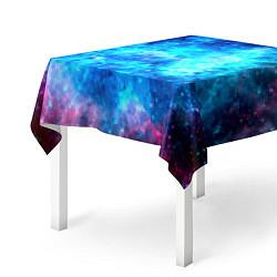 Скатерть для стола Голубая вселенная цвета 3D — фото 2