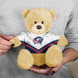 Игрушка-медвежонок NHL: Columbus Blue Jackets цвета 3D-желтый — фото 2
