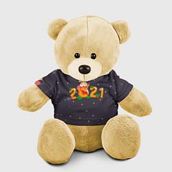 Игрушка-медвежонок 2021 Новый Год цвета 3D-желтый — фото 1