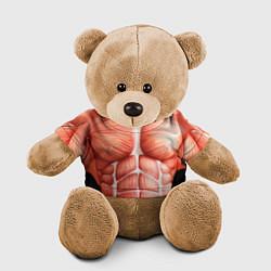 Игрушка-медвежонок Мышцы мужчины цвета 3D-коричневый — фото 1