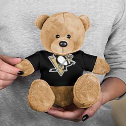 Игрушка-медвежонок Pittsburgh Penguins: Malkin цвета 3D-коричневый — фото 2