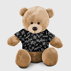 Игрушка-медвежонок Chemical Brothers: Pattern цвета 3D-коричневый — фото 1