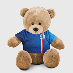 Игрушка-медвежонок Сборная Исландии по футболу цвета 3D-коричневый — фото 1