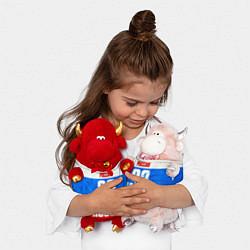 Игрушка-бычок Russia: from 32 цвета 3D-красный — фото 2