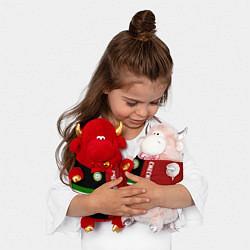 Игрушка-бычок Chechnya, Russia цвета 3D-красный — фото 2