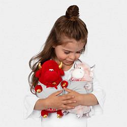 Игрушка-бычок Пожарный цвета 3D-красный — фото 2