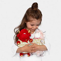 Игрушка-бычок Бананы цвета 3D-красный — фото 2