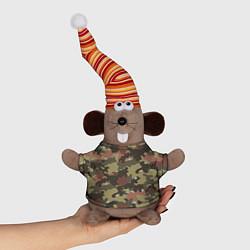 Игрушка-мышка Камуфляж: коричневый/хаки цвета 3D-серый — фото 1
