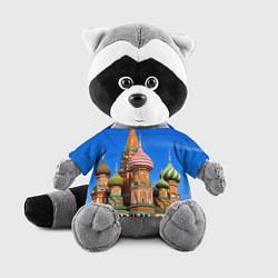 Игрушка-енот Храм Василия Блаженного цвета 3D-серый — фото 1