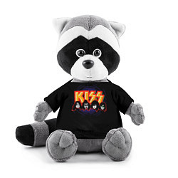Игрушка-енот KISS: Death Faces цвета 3D-серый — фото 1