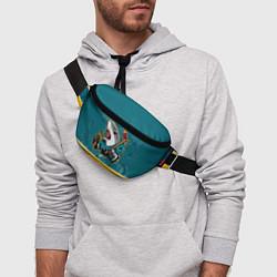 Поясная сумка San Jose Sharks цвета 3D-принт — фото 2