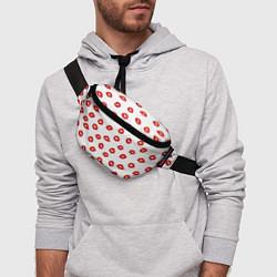 Поясная сумка Поцелуйчики цвета 3D-принт — фото 2