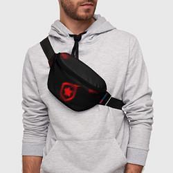 Поясная сумка Gambit: Black collection цвета 3D-принт — фото 2