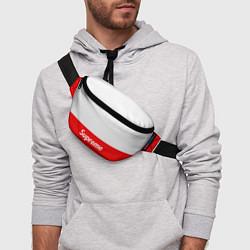 Поясная сумка Supreme: White & Red цвета 3D — фото 2