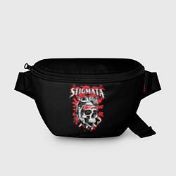 Поясная сумка Stigmata Skull цвета 3D-принт — фото 1