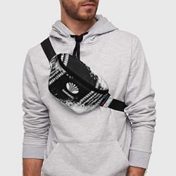 Поясная сумка Daewoo: Black Spray цвета 3D-принт — фото 2