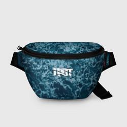 Поясная сумка Грот: Синий мрамор цвета 3D — фото 1