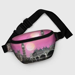 Поясная сумка Закат в Великобритании цвета 3D-принт — фото 2