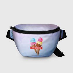 Поясная сумка Ice Creme цвета 3D-принт — фото 1