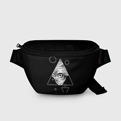 Поясная сумка Всевидящее око цвета 3D-принт — фото 1