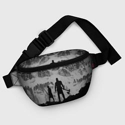 Поясная сумка God of War: Grey Day цвета 3D-принт — фото 2