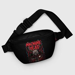 Поясная сумка Machine Head: Blooded Skull цвета 3D-принт — фото 2