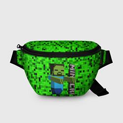Поясная сумка MINECRAFT цвета 3D-принт — фото 1