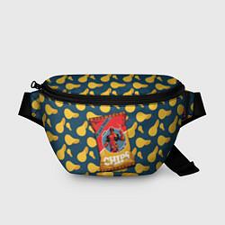 Поясная сумка Deadpool чипсы цвета 3D-принт — фото 1