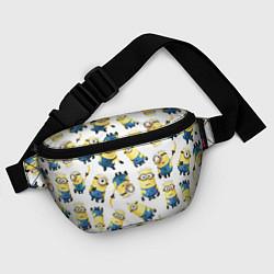 Поясная сумка Minions Pattern цвета 3D-принт — фото 2